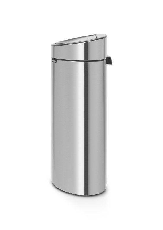 Prullenbak Brabantia Touch Bin 10 Liter.Brabantia Touch Bin Recycle Prullenbak 10 23 L Matt Steel