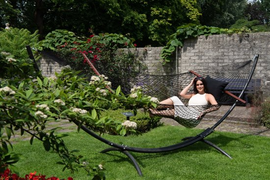 Hangmat met Standaard Familie 'Arc & Rope' Black