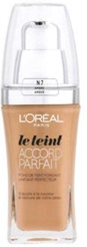 L'Oréal Paris Accord Parfait N7 Ambre foundationmake-up Pompflacon