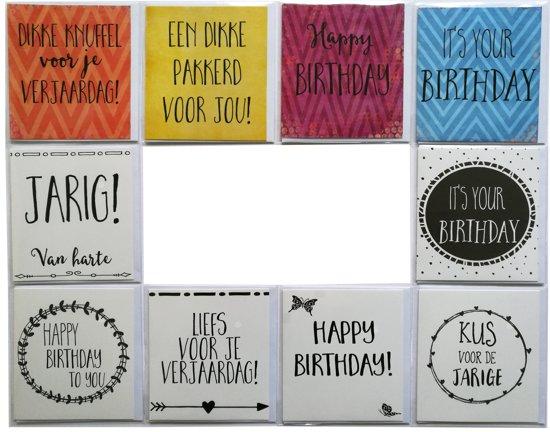 Verjaardagskaarten - set van 10