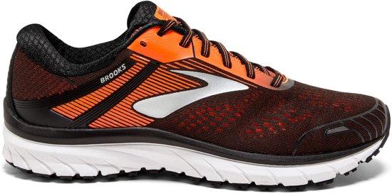 e27eb3af16a Brooks Adrenaline GTS 18 zwart oranje hardloopschoenen heren