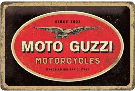 Moto Guzzi Metalen Bord 20 x 30 cm