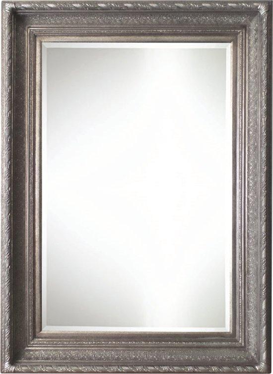Qweens - Spiegel - Gina- antiek zilver - buitenmaten breed 86 cm x hoog 146 cm.