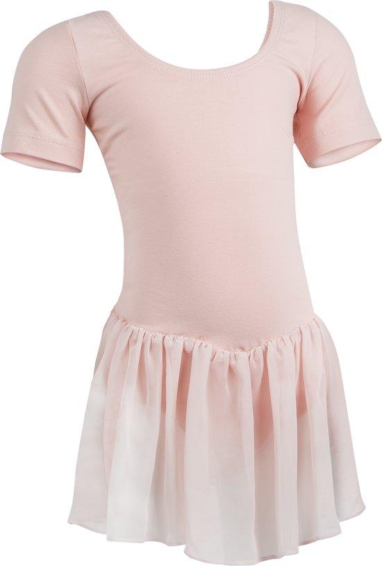 Balletpakje met Rokje R3040 dans sport fitness gymnastiek- roze - maat 116