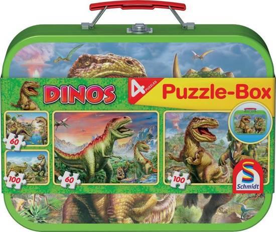 Bolcom Dinos Kinderpuzzel 2x60 En 2x100 Stukjes Schmidt