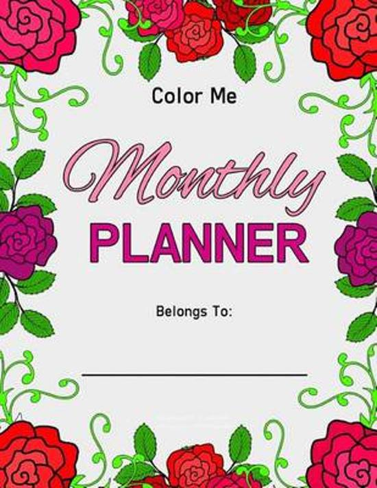 Color Me Monthly Planner