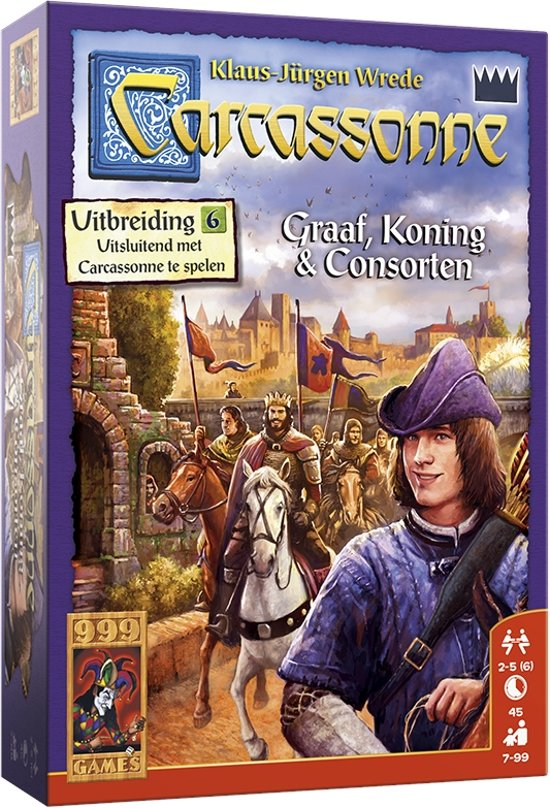 Carcassonne: Graaf, Koning en Consorten Bordspel