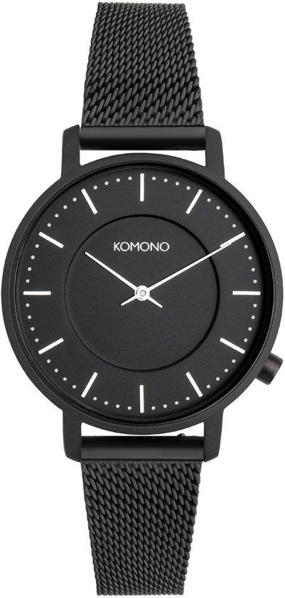 Komono Black Harlow Mesh horloge  - Zwart