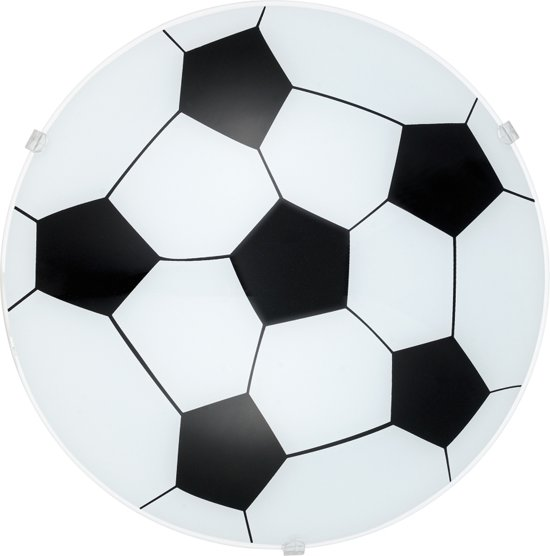 0decc299e17 EGLO Junior 1 Wand/Plafondlamp - 1 Lichts - Wit - Motief Voetbal