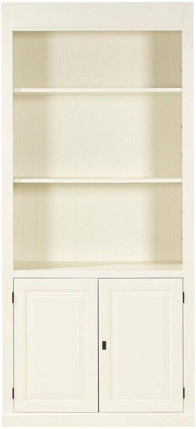 boekenkast valence boekenkast 100 cm breed 2 deuren 3 open vakken