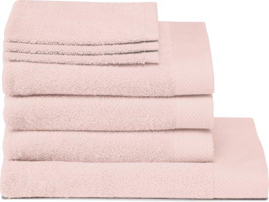 Seahorse Pure - 3 Washandjes & 3 Baddoeken & 1 Douchelaken - Pearl Pink - Set van 7