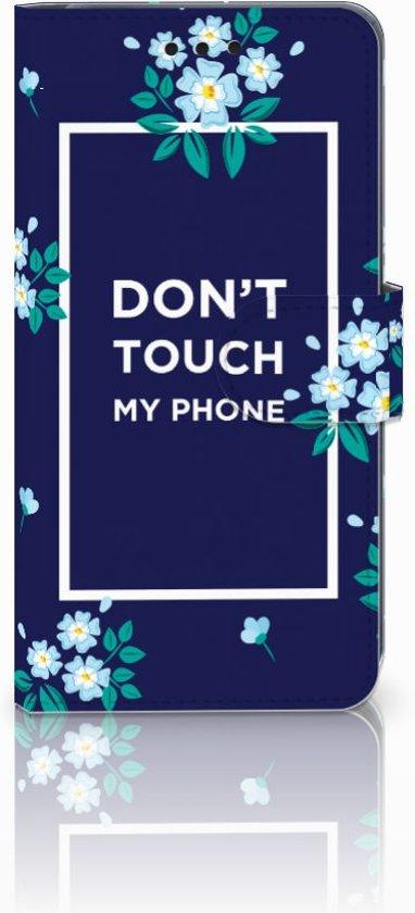Huawei P20 Boekhoesje Flowers Blue DTMP