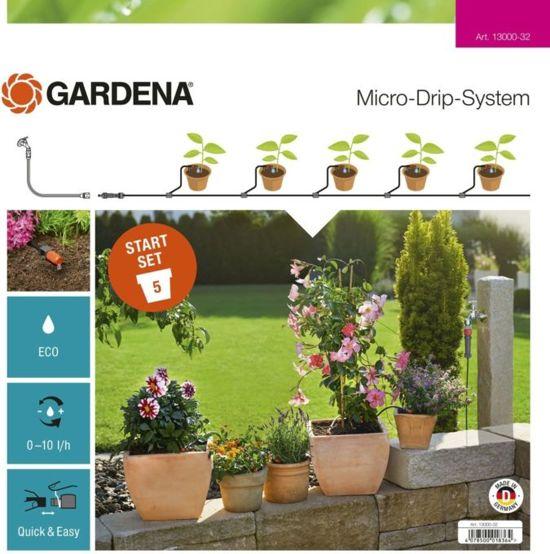 GARDENA Start Set terras/balkon - besproeiing van max. 5 bloempotten