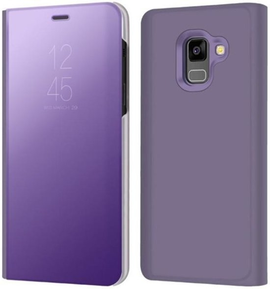 super popular 2fa5f eb722 Clear View Stand Cover voor de Samsung Galaxy A6 (2018) – Paars