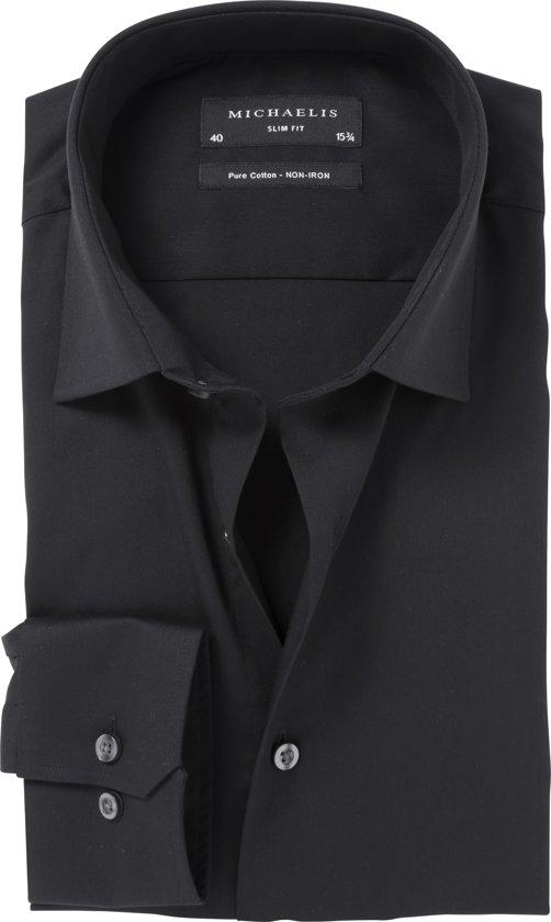 Uni Zwart overhemd van Michaelis