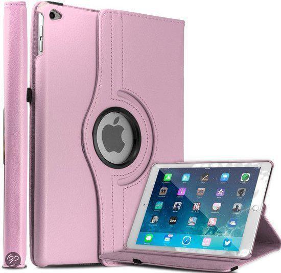 Apple iPad Air 2 Case met 360° draaistand Hoes Cover met Kleur Licht Roze in Hemert