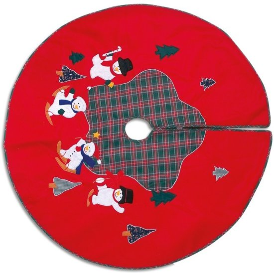 "Small foot 1903,Christmas Tree Skirt ""Snowman"" Valentinaa"