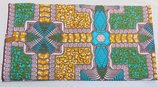 Mooi Afrikaanse stof met diverse kleuren (VBL10)