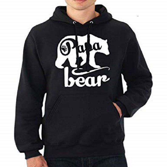 Hoodie sweater   Papa Bear   Maat XXL