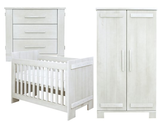 Bopita 3 delige babykamer tim white wash - Afbeelding babykamer ...