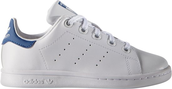 adidas stan smith schoenen wit blauw
