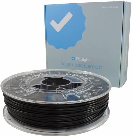 FilRight Engineering TPU Flexibel Filament - 1.75mm - 500 g - Zwart