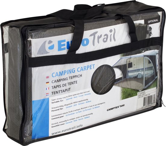 Eurotrail Camptex Tenttapijt - 350 x 400 cm - Grijs