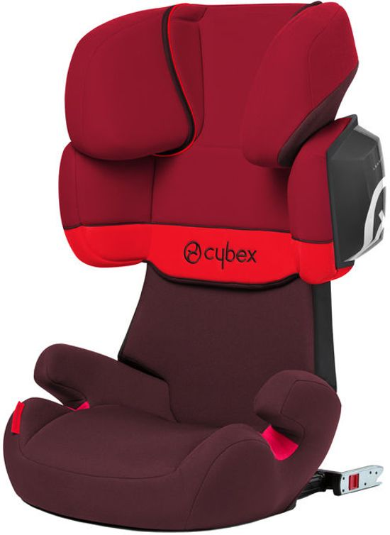 Cybex - Solution X2-Fix - Autostoel groep 2,3 - Rumba Red - dark red