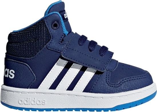 1e19d0e2a23fba adidas Hoops 2.0 Mid Sneakers Kids Sneakers - Maat 21 - Unisex - wit/blauw