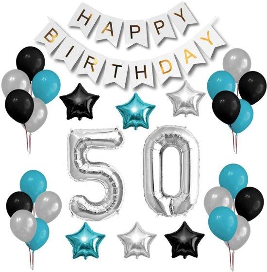 Versiering Verjaardag 50 Jaar.Verjaardag Versiering 50 Jaar Feestje Sara Decoratie Feest Set Happy Birthday Feestartikelen Party Decoraties Ballonnen Man En Vrouw
