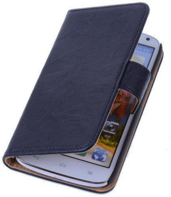 BestCases Nevy Blue  Huawei Ascend G610 Luxe Echt Lederen Booktype Hoesje in Godveerdegem