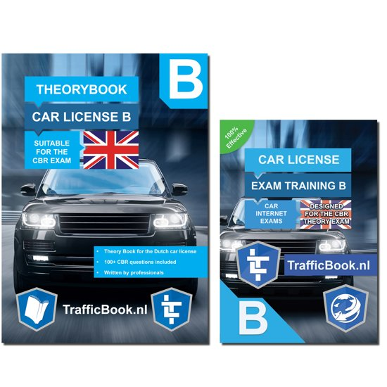 Driving license B theorybook English + 15 hours online exam training 2018