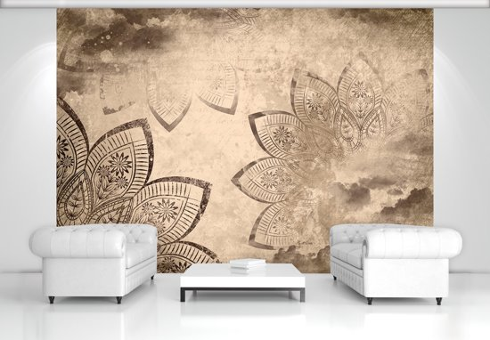 Sepia Photomural, wallcovering