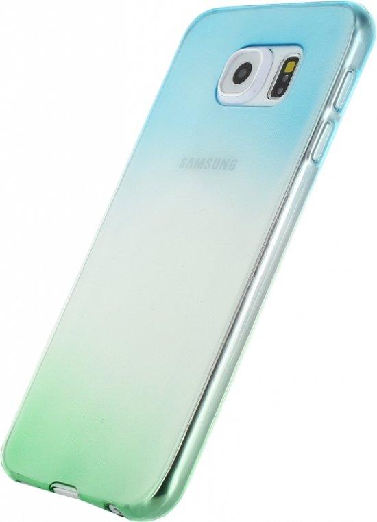 Xccess Thin TPU Case Samsung Galaxy S6 Edge Gradual Green/Turquoise