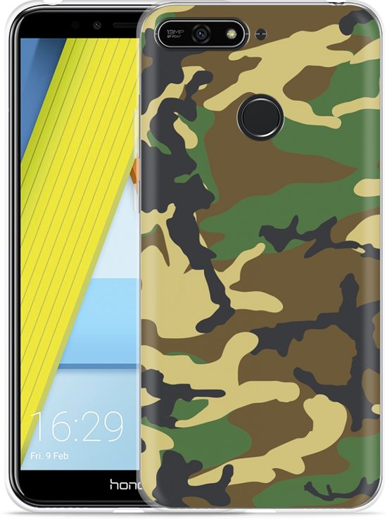 Honor 7A Hoesje Army Camouflage Green