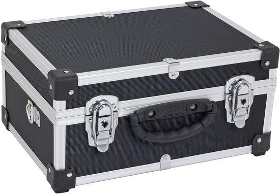 varo prm10106b aluminium koffer lichtgewicht schouderriem meegeleverd zwart. Black Bedroom Furniture Sets. Home Design Ideas