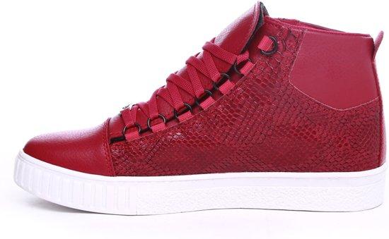 Half Kleur Van Print Heren Hoog Rood Snake Sneakers Manzotti Met YUZ5a8q