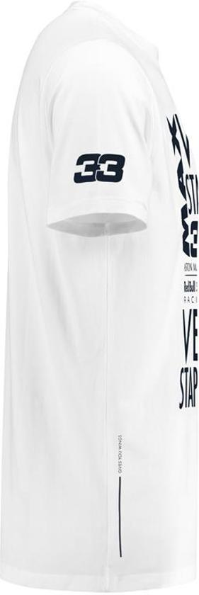 Max Verstappen T-Shirt Wit   L