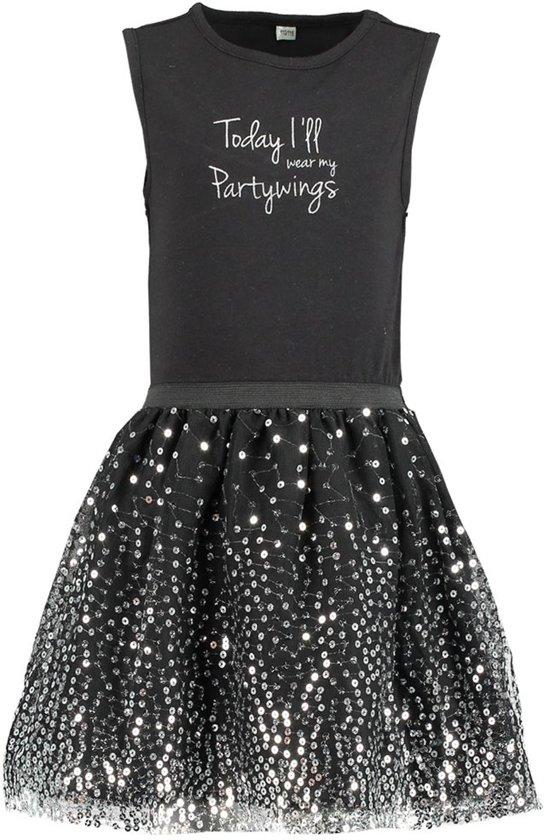 Zeeman - meisjes jurk - zwart - maat 110/116