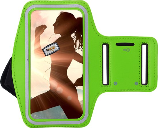Pearlycase Sportarmband Hardloopband Groen voor Huawei P Smart Z