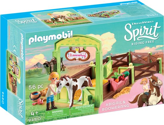 Afbeelding van PLAYMOBIL Abigail & Boomerang met paardenbox - 9480 speelgoed