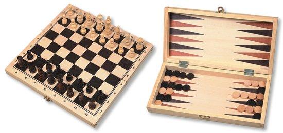 Schaak-/backgammon Klapcassette HOT Games