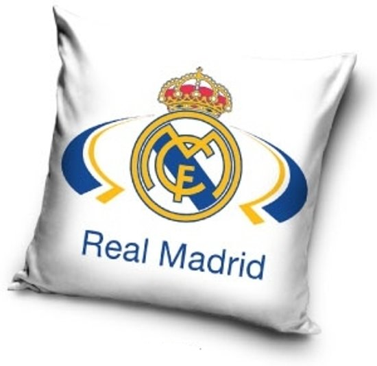 kussen real madrid wit 40x40 cm On real madrid kussen