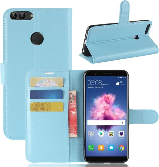Hoesje voor Huawei P Smart, 3-in-1 bookcase, blauw