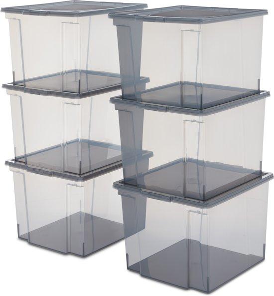 IRIS Useful Storage Box opbergbox - 30 l - Grey - 6 stuks