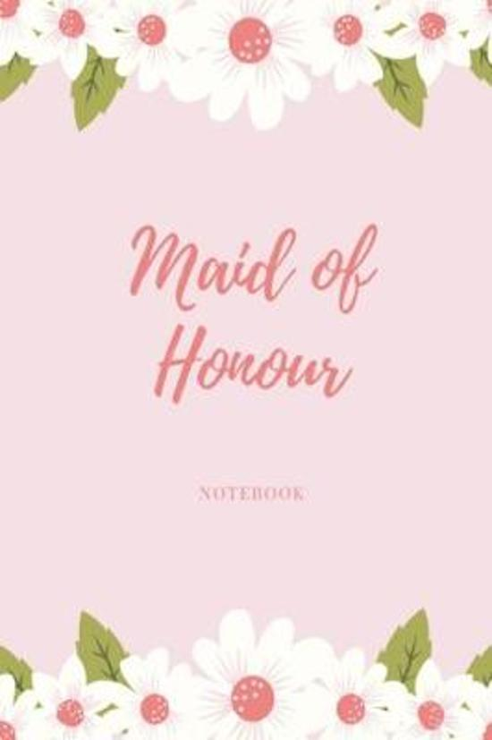 Maid of Honour Notebook: Pink floral wedding lined paperback jotter