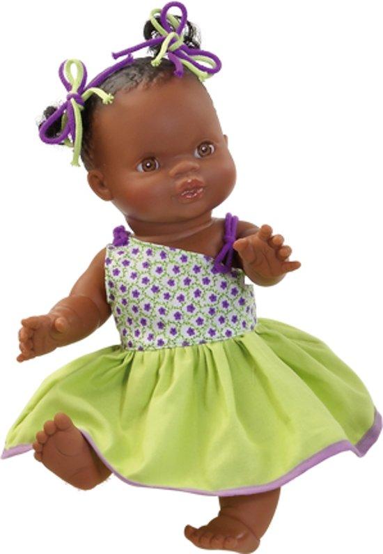 Paola reina Gordi bruine babypop donkere pop meisje gekleed 34 cm