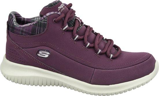 Skechers Ultra Flex 12918 BURG, Vrouwen, Rood, Sneakers maat: 36 EU
