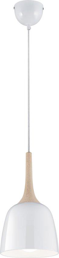 TRIO, Hanglamp, Kannan 1xE27, max.40,0 W Metaal, Wit, Armatuur: Metaal, Wit Ø:20,0cm, H:130,0cm
