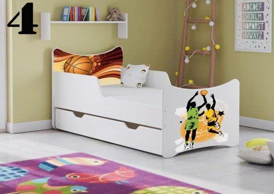 Kinderbed Met Extra Bed.Bol Com Kinderbed Wit Met Opdruk Basketball Incl Matras 3